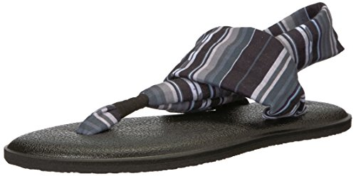 Sanuk Kids Girls' Lil Yoga Sling 2 Prints Flip-Flop, Black T