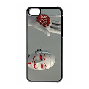 iPhone 5c Cell Phone Case Black Anonymous sculpture red eyes masks Guy Fawkes 3D Urznf