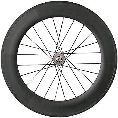 Queen Bike Carbon Fixed Gear Wheelset 700C 88mm Track Wheel Clincher Matte Finish