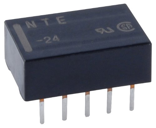 NTE Electronics R74-11D1-3 Series R74 Subminiature Pc Board Mount Low Power Consumption Relay, DPDT, 1 Amp, 3 VDC ()
