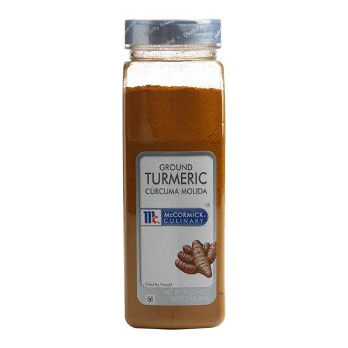 McCormick Tumeric - 1 lb. container, 6 per case