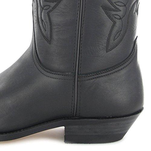 Mayura Boots MB020 Pull Negro/ Damen und Herren Westernstiefel Schwarz Schwarz