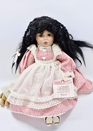 Collectible Memories - Chantel Doll - African American - 16 Inches - Porcelain / Braided Hair - Collectible - Rare