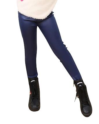 soddisfare davvero economico comprare popolare Leggings Pelle Pu Bambina Caldo Pantaloni Lunghi di Vita Elastica ...