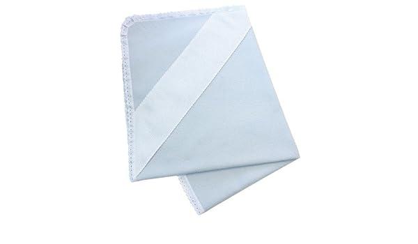 Manta Polar Beb/é Blanca con puntillas para bordar a punto de cruz