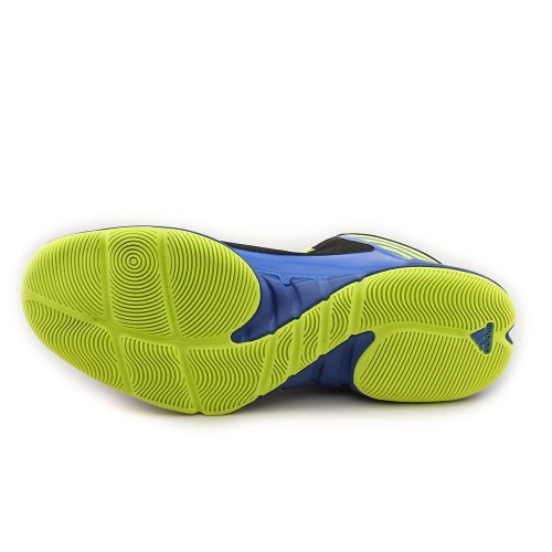 Adidas Pazza Presa Di Colore Nero / Esplosione Scarpe Blu Di Pallacanestro Del Mens Nero / Scoppio Blu / Elettricità
