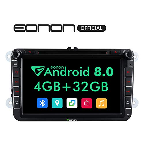 2019 Double Din Car Stereo,Eonon Android 8.0 Car Radio Car Head Unit, Applicable to Volkswagen/SEAT/Skoda 4GB RAM+32GB ROM Octa-Core 8 Inch with Bluetooth Split Screen,Fastboot-GA9153A