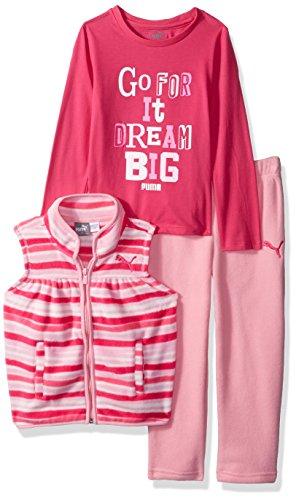 PUMA Toddler Girls' Three Piece Micro Fleece Set, Petal Pink