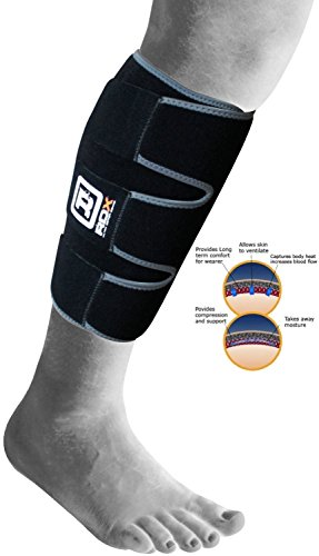 Review Authentic RDX Neoprene Calf Brace Support Wrap Shin Ankle Sports Pain Strap Bandage Injury (S...