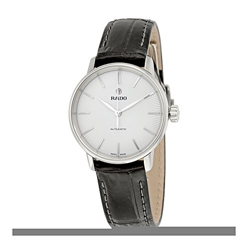 Rado Coupole Classic Automatic Silver Dial Black Leather Ladies Watch R22862015