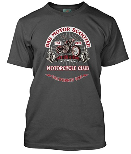 (BathroomWall T-shirts Montrose Inspired Sammy Hagar Bad Motor Scooter, Men's T-Shirt, XX Large, Charcoal)
