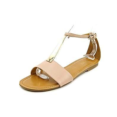 Nine West Womens Piyalle T-Strap Sandal Light Pink Size 10