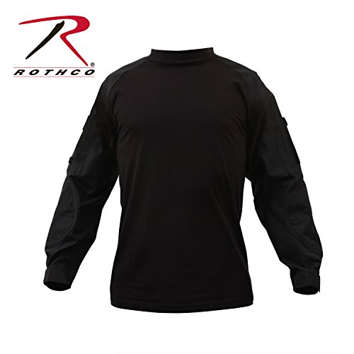 Rothco Combat Shirt, Black, Large