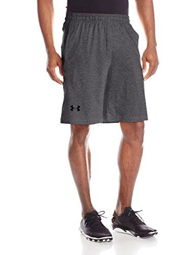 Pantaloncini da uomo da 10 con incursione, Carbon Heather / Nero, XXX-Large