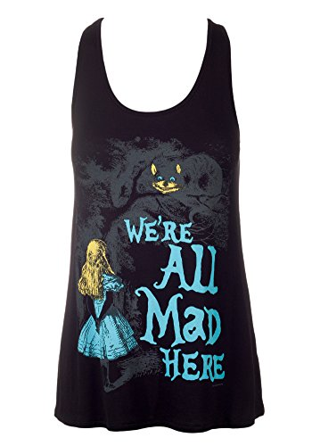 Sidecca Alice in Wonderland Were All Mad Here Muscle Tank