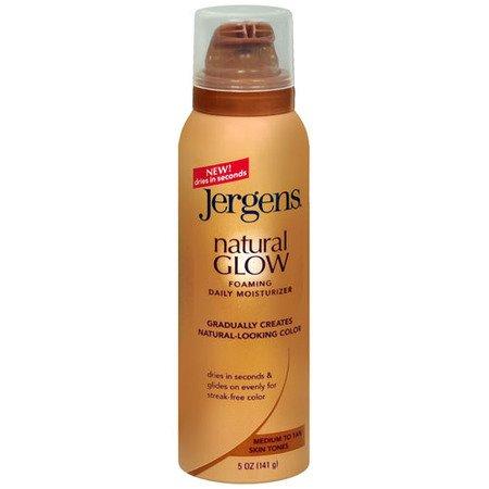 Natural Glow Moussant Hydratant quotidien pour les moyennes et peau bronzée par Jergens, 5 onces