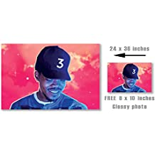 """Chance the Rapper Coloring Book Poster - 24in x 36in """"FREE 8X10 Glossy Photo"""" Included"""