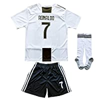 FCRM 2018/2019 New #7 Cristiano Ronaldo Kids Home Soccer Jersey & Shorts Youth Sizes