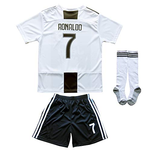 3a29198ee FCRM 2018 2019 New  7 Cristiano Ronaldo Kids Home Soccer Jersey   Shorts  Youth. Tap to expand