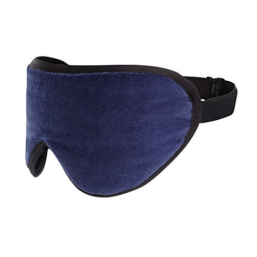 (Masters of Mayfair Luxury Sleeping Mask Eye Shade with Silk and Lavender Scents (Navy Blue))