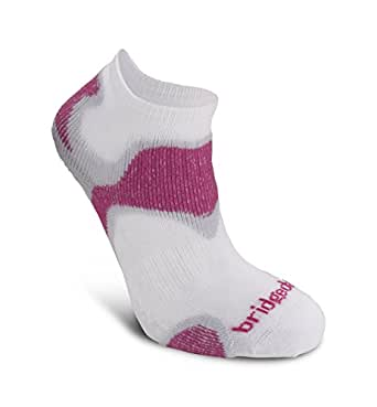 Bridgedale Womens Speed Diva Coolfusion Run Socks, Small, Dusky Pink with Sock Ring