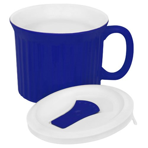 CorningWare 20-Ounce Meal Mug with Vented Lid (Blueberry) by CorningWare
