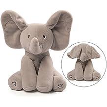 Gund Baby Elefante animado blando de peluche.