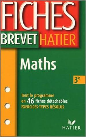Lire un Fiches Brevet : Mathématiques, 3e pdf epub