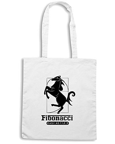 T-Shirtshock - Bolsa para la compra FUN0094 04 24 2013 Fibonacci 1123 T SHIRT det Blanco