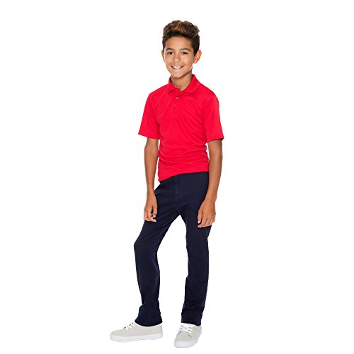 French Toast Boys' Big Short Sleeve Stretch Sport Polo, red, M (8) by French Toast (Image #2)