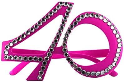 Gafas de 40 cumpleaños – rosas: Amazon.es: Juguetes y juegos