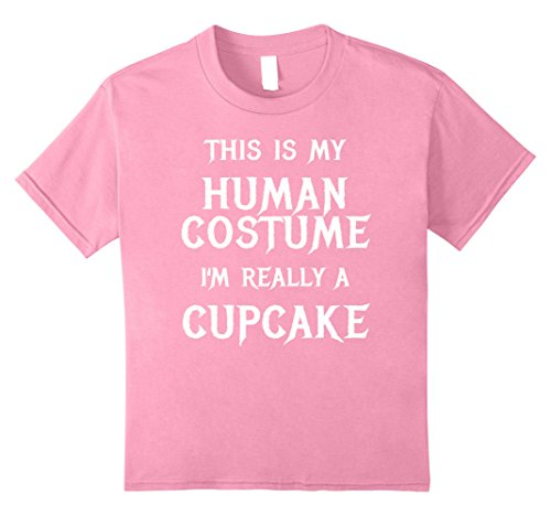 Diy Cupcake Costumes (Kids Cupcake Halloween Costume Shirt Easy Funny for Girls Women 10 Pink)
