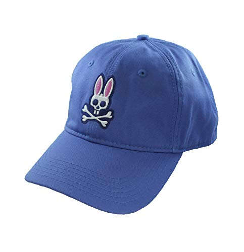 (Psycho Bunny Curved Cotton Twill Visor Hat Lilac )