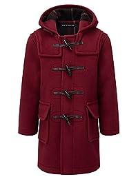 Montgomery of England Kids Classic Duffle Coat (Toggle Coat) in Burgundy