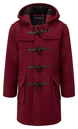 Kids Classic Duffle Coat (Toggle Coat) in Burgundy ( 7-9Y ) -