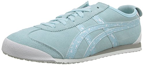 Onitsuka Tiger Women's Mexico 66 Classic Running Shoe, Clear Water/Clear Water, 9 M US