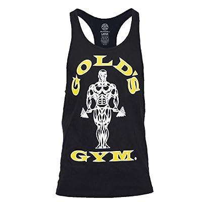 Gold's Gym 2018 Muscle Joe Premium Stringer Vest Mens Fitness Training Gym Y-Back Tank Top