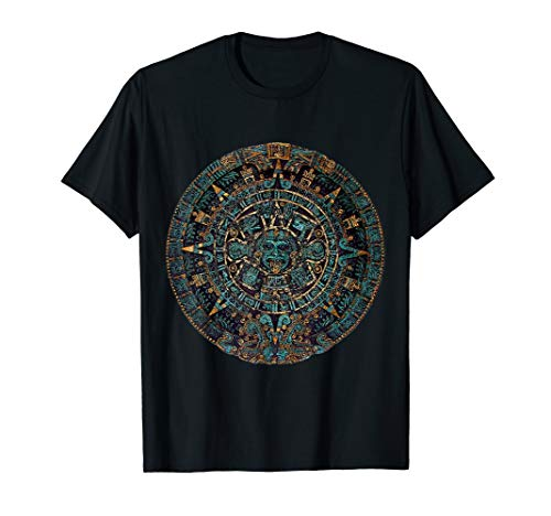 Maya Aztec Calendar Art Artifact T-Shirt ()