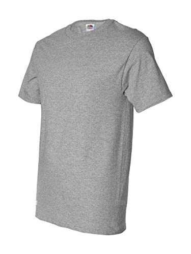 ( Fruit of the Loom Men's Short Sleeve Crew Tee, XXXXXX-Large  - Athletic Heather )