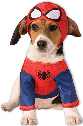 [Rubies Costume Company Marvel Classic/Marvel Universe Spider-Man Pet Costume, Large] (Large Dog Spider Halloween Costume)
