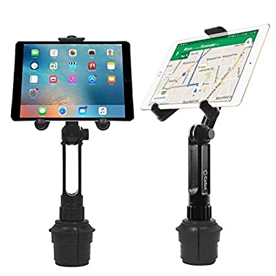 Cellet Tablet Mount with a Cup Holder Base Compatible for Apple iPad Pro 12.9 Air Mini 4 3 2 Air Samsung Galaxy Tab S5e S4 S3 A/E  Kind Fire HD LG G Pad F2 8.0 Surface (13 inch Tall Straight