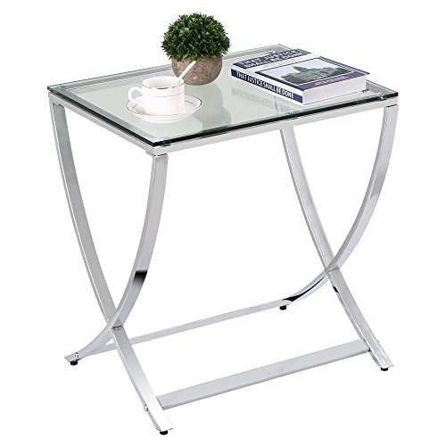 glass and chrome side tables - 4