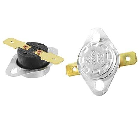 2 pezzi doro di controllo Terminali tono Temperatura termostato 100C NC KSD301 - - Amazon.com