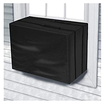 Midress Anti-Snow Air Conditioner Cover,Air Conditioner Outdoor Protective Cover Case Dust Net Cooling Fan Cover