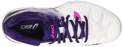 Gel Asics white Pink De Tennis Multicolore parachute Femme Purple hot 6 Chaussures resolution W 1qrqRad