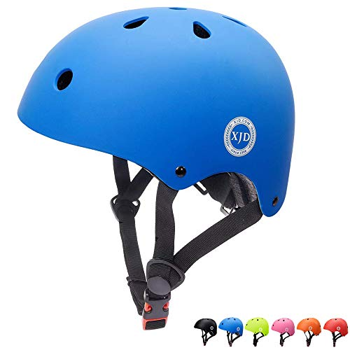 XJD Toddler Helmet Kids Bike Helmet CPSC Certified Adjustable Bike Helmet Ages 3-8 Girls Boys Safety Skating Scooter Cycling Rollerblading (Blue)
