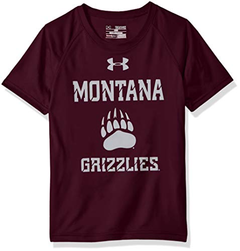 Under Armour NCAA Montana Grizzlies Youth Short Sleeve Tech Tee, Medium, Maroon