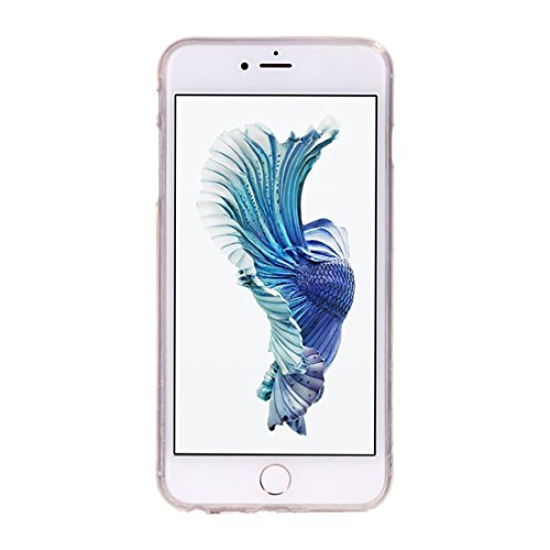 GR iPhone 6 Plus & 6s Plus Soft TPU Noctilucent Pflaumenmuster IMD Workmanship Rückseiten Cover Case ( SKU : Ip6p0938d )