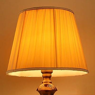 Crema Tela pantallas de lámparas, Plisado Tambor Pantalla de ...