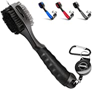 Champkey PRO Retractable Golf Club Brush - Oversized Brush Head,Soft Rubber Hand Grip & Retractable Groove